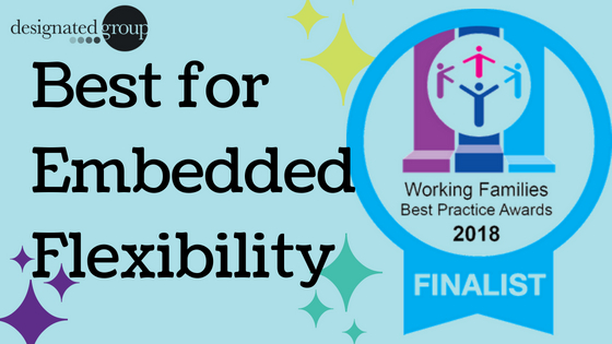 Designated Group are finalists in the Working Families' Best Practice Awards